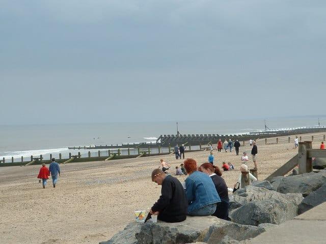 Hornsea beach, Hornsea, East Riding of Yorkshire