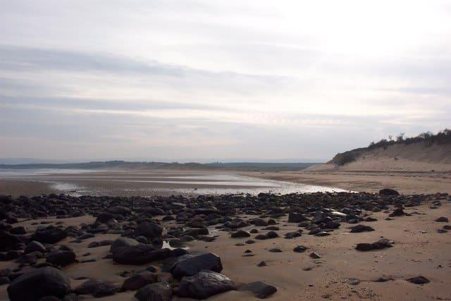 Peffer Sands beach, East Linton, East Lothian
