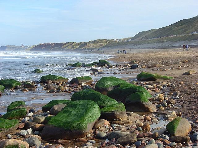 Sandsend beach, Whitby, North Yorkshire
