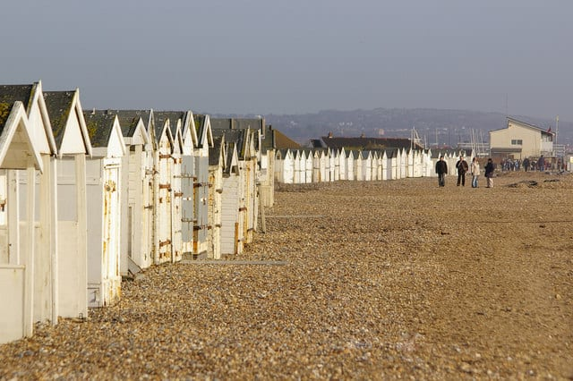 South Lancing beach, Worthing, West Sussex