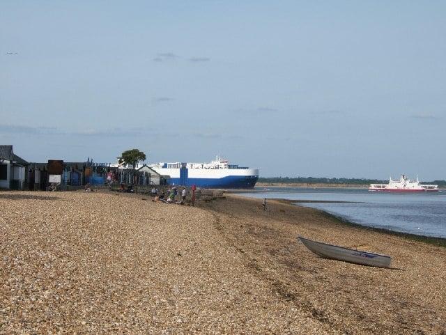 Calshot beach, Southhampton, Hampshire
