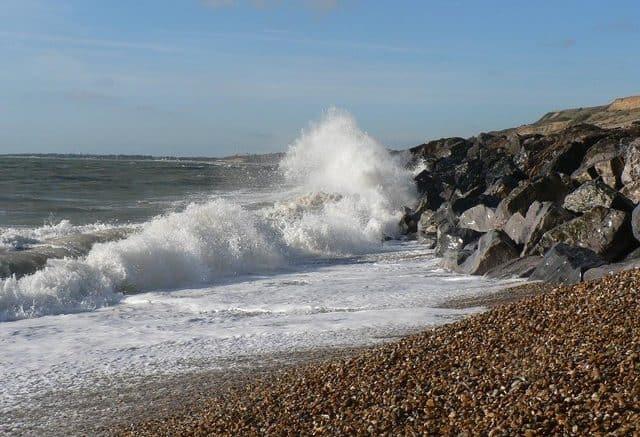 Barton-On-Sea beach, Barton-on-Sea, Hampshire