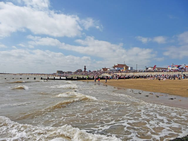 Clacton West and Martello Bay beach, Clacton-on-Sea, Essex