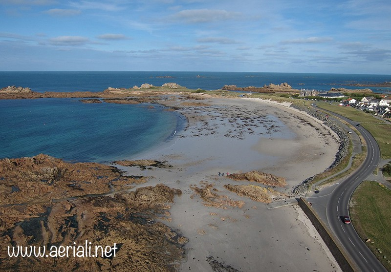 Grandes Rocques beach, Castel, Guernsey, Channel Islands