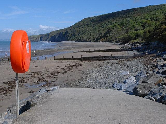 Cei Bach Bay beach, New Quay, Ceredigion