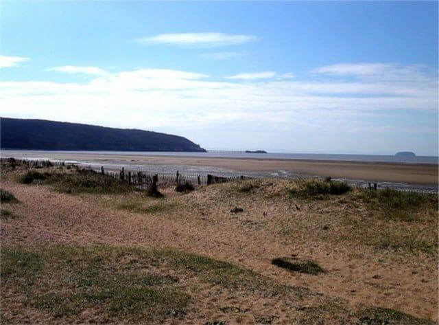 Sand Bay beach, Weston-Super-Mare, Somerset