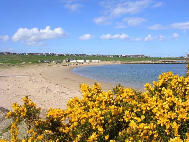 Peterhead Lido beach, Peterhead, Aberdeenshire