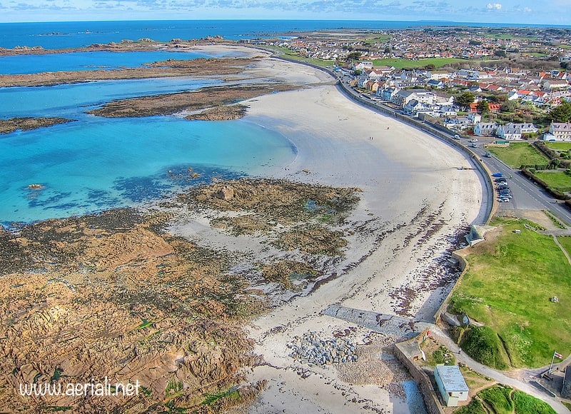 Cobo beach, Castel, Guernsey, Channel Islands