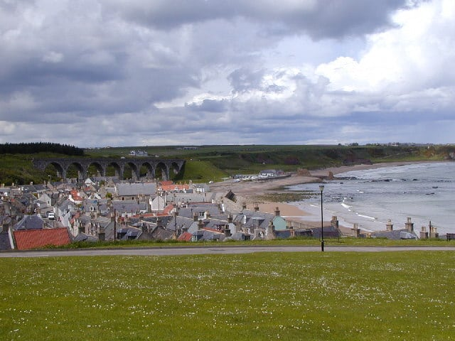 Cullen beach, Cullen, Moray