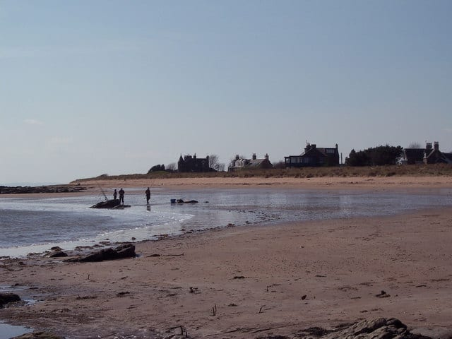 East Haven beach, Carnoustie, Angus