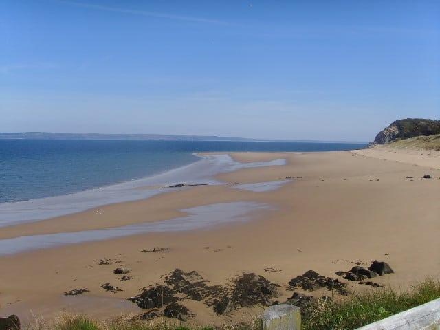 Priory Bay beach, Caldey Island, Tenby, Pembrokeshire