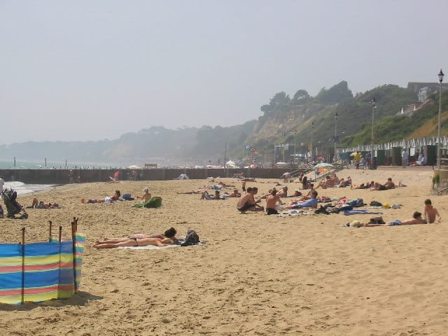 Alum Chine beach, Bournemouth, Dorset
