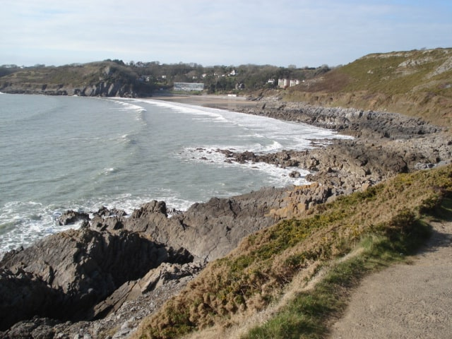Caswell Bay beach, Mumbles, Swansea, Swansea Bay and The Gower