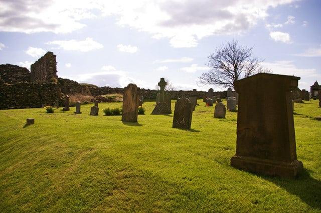 Lindisfarne Priory, Holy Island, Berwick-upon-Tweed, Northumberland