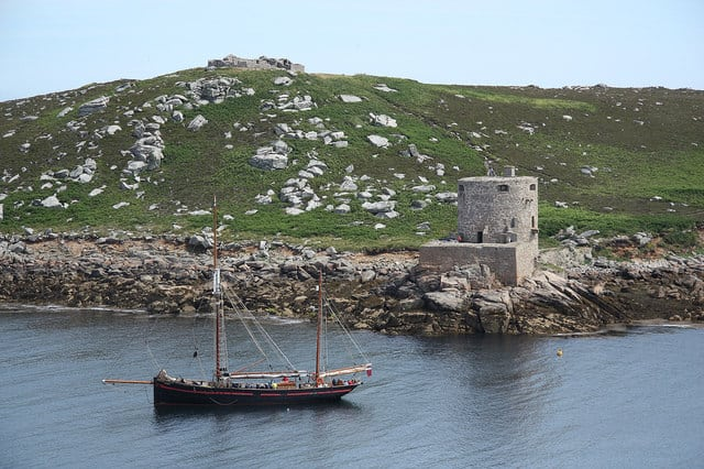 Cromwells Castle, Tresco, Isles of Scilly, Cornwall