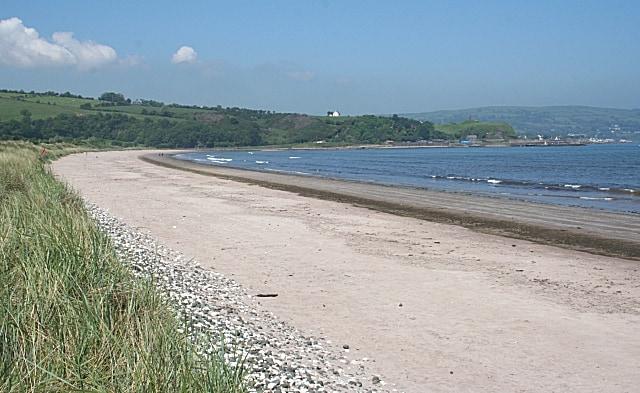 Waterfoot beach, Waterfoot, Antrim