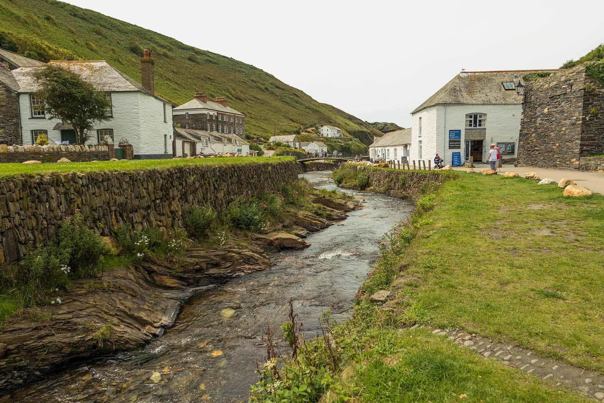 Boscastle village and harbour, Cornwall