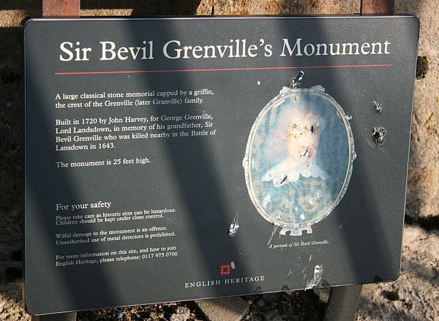 Sir Bevil Grenvilles Monument, Bath, Somerset