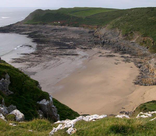 Fall Bay beach, Rhossili, Swansea Bay and The Gower