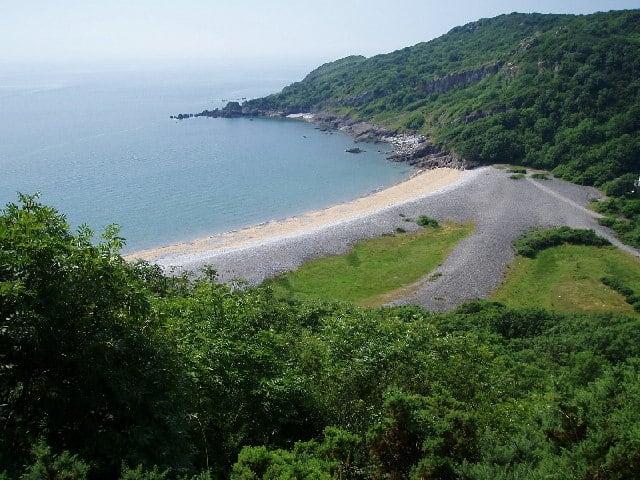 Pwlldu Bay Beach, Mumbles, Swansea Bay and The Gower