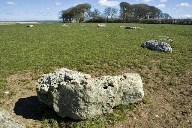 Kingston Russell Stone Circle, Abbotsbury, Weymouth, Dorset