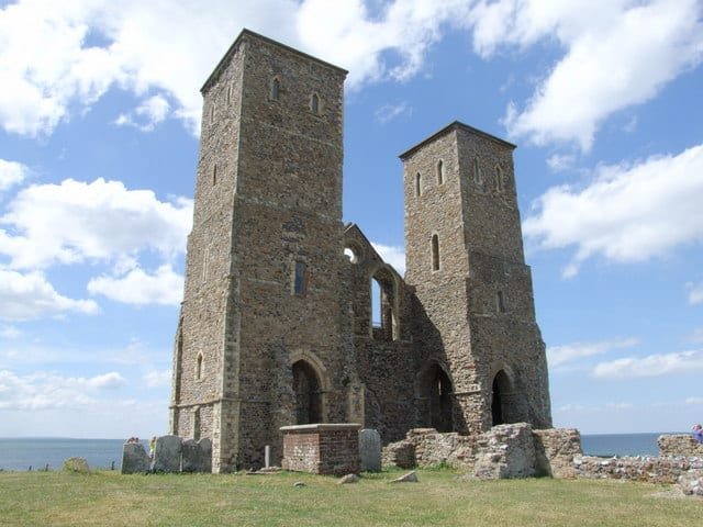 Reculver Towers and Roman Fort, Reculver, Herne Bay, Kent