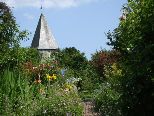 Monks House garden, Rodmell, Lewes, East Sussex