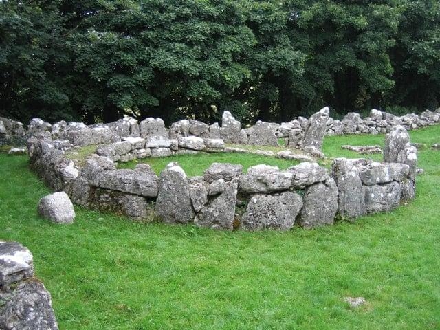 Din Lligwy Huts, Llanallgo, Moelfre, Isle of Anglesey, Wales