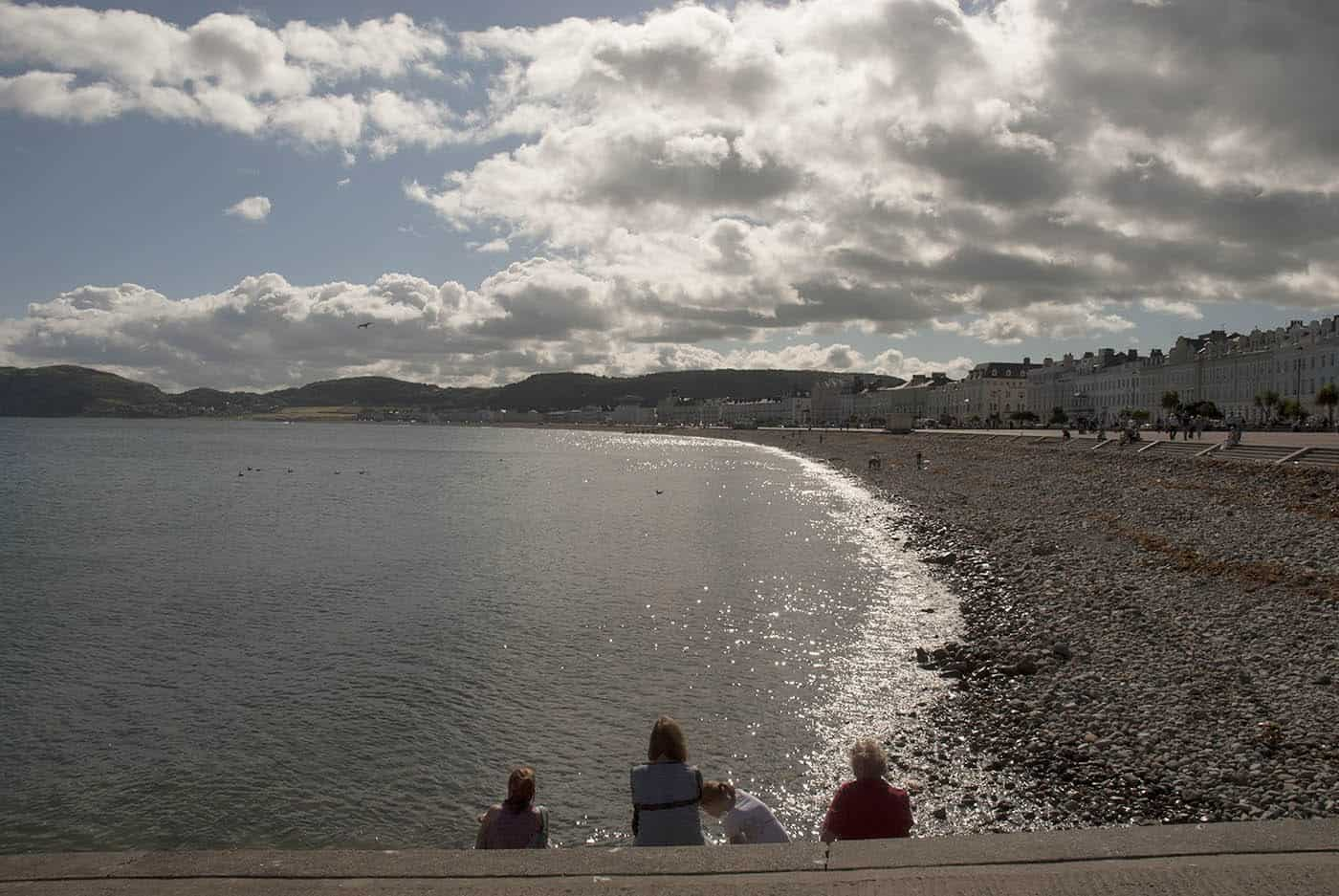 Llandudno North Shore beach, Llandudno, Conwy, Wales